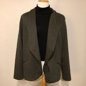 EUC- Chico's Green Textured Blazer/ Jacket-Medium